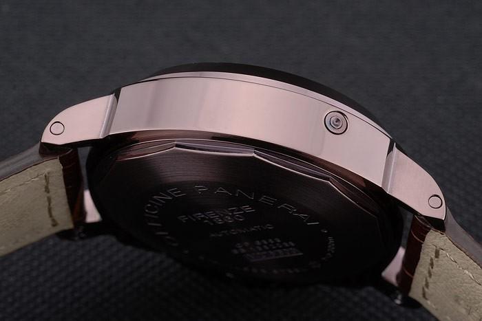 Panerai Luminor bracelet en cuir brun Cadran Noir 80165