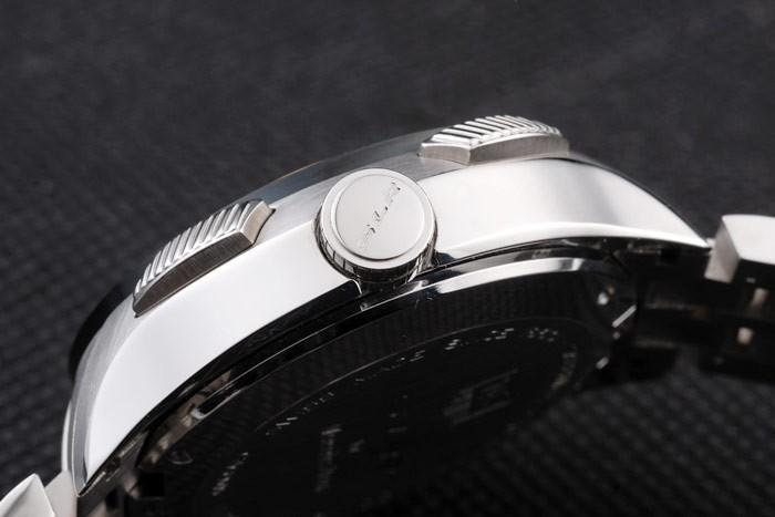 Tag Heuer SLR Swiss Tachymeter Lunette en acier inoxydable cadran noir
